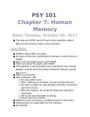 PSY 101 Tues, Oct 10,2017.docx