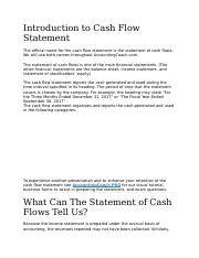 Introduction to Cash Flow Statement.docx