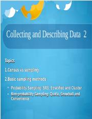 sta lec2 Collecting and Describing Data 2.ppt