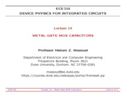 ECE216-Lecture-14-Metal-Gate-MOS-Capacitors