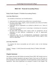 Study guide _Chap 7 Positive Accounting Theory (1) (1).doc
