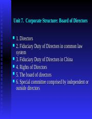 Unit 7.  Corporate Stucture (board of directors).ppt
