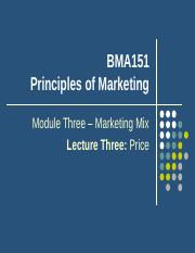 Lecture 8 Price