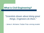 lecture 2 what is civil engineering