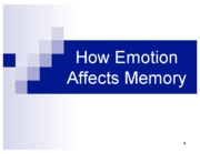 How+emotion+affects+memory