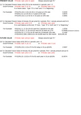 Present Value Excel