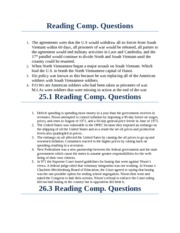 24.4,25.1, and 26.3 Reading Comp. Questions