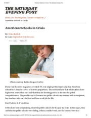American Schools in Crisis _ The Saturday Evening Post
