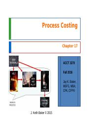 Chapter 17 - Cost Accounting - JKBaker