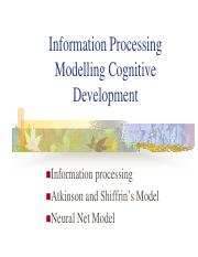 Information Processing Modelling Cognitive Development.pdf