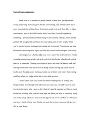 Literature Career Essay Assignment