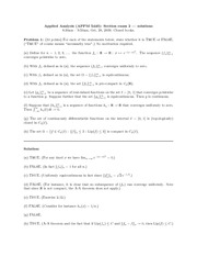 Midterm Exam 2 Fall 2009 Solution on Applied Analysis 1
