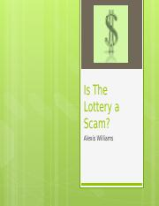 Is The Lottery a Scam - Copy