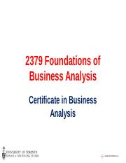 FBA_Session 1 - Introduction to Business  Analysis