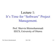 Lecture1 Software Project for Software Project Management