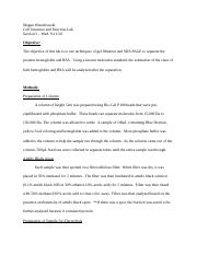 Cell Structure - Electrophoresis Lab Report First Draft.docx