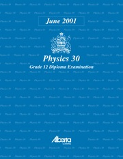 Physics 30 June 01 Diploma Exam