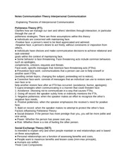 Notes Communication Theory Interpersonal Communication