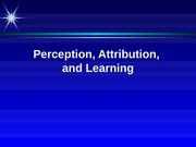 Perception Attribution Learning + personal notes