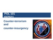 POL101 Counter-insurgency & Counter-terrorism
