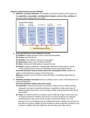 Chapter1 Understanding Consumer Behavior.docx