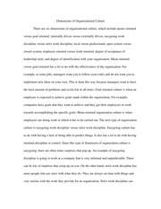dimension of organization culture essay