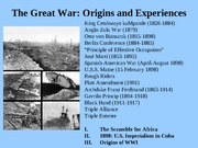 Great War Origins and Experiences