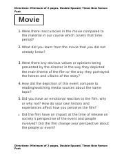 movie review questions