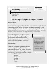Partnering Intelligence Case Study (Overcoming Change Resistance