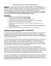 Sample Literary Analysis Essays