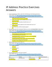 IP Address Practice Exercises Answer Key.docx