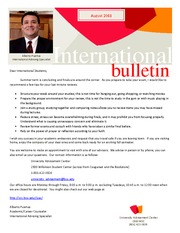 International Bulletin Summer 2011