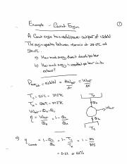 Worked Problem - Carnot Engine