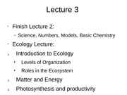 Lecture 3 Ecology gms S15
