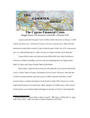 The Cyprus Financial Crisis.doc