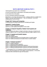 MATH 140 Spring 2014 Study Guide for Test 1