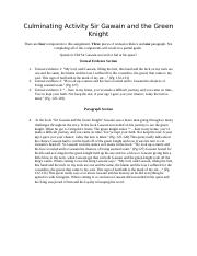 Sir Gawain and the Green Knight Final Assignment Kayla Harrison.docx
