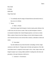Chapter 1 Study Guide- Child and Adolescent