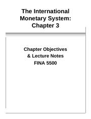 f55 Ch03 International Monetary System