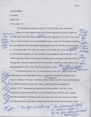 "english essay revelation in ""revelation"" flannery o  5 pages the significance of s in flannery o conner s short story revelation paper"