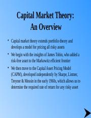 T5 Capital  Market Theory