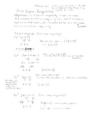First Degree Inequality Notes