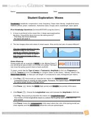 Waves Gizmo Worksheet Answer Key Pdf - Worksheetpedia