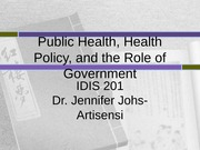 Policy Health role of the govt