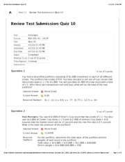 Review Test Submission: Quiz 103
