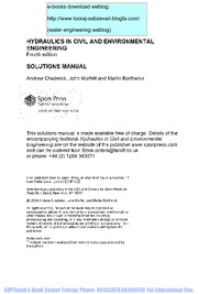 20.Hydraulics.in.Civil.and.Environmental.Engineering.(Solutions.Manual)(.3.Edition).A.Chadwick.A