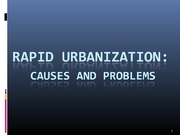 URS1006 Lecture 4 Problems of Rapid Urbanization