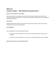 SRA111_Lesson2_Course_Notes