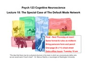 lecture18 The Special Case of the Default Mode Network
