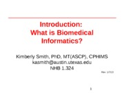 Lecture 01 - 1 - Introduction and What is informatics- (1)
